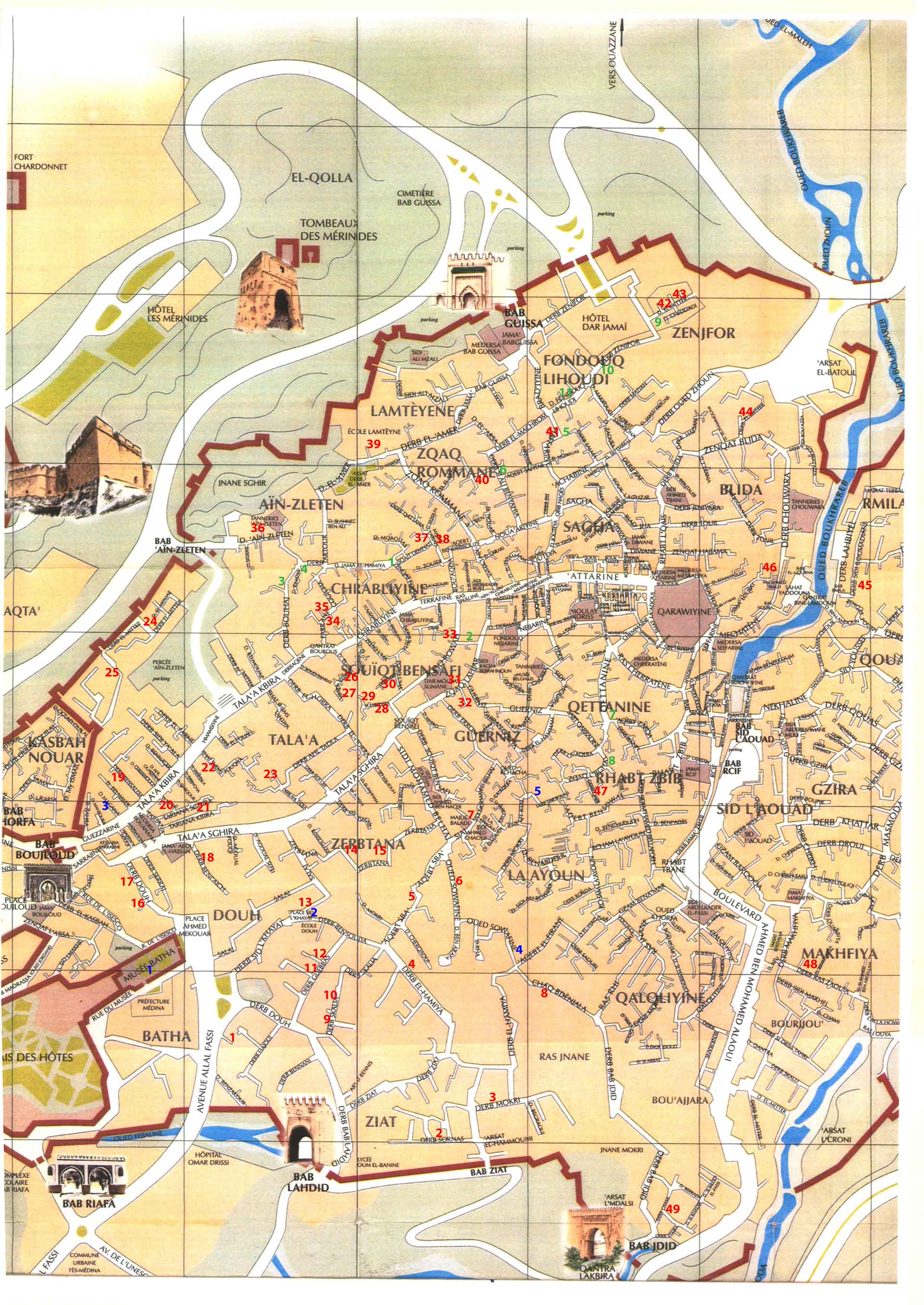 Fez Medina Map Fez Riads